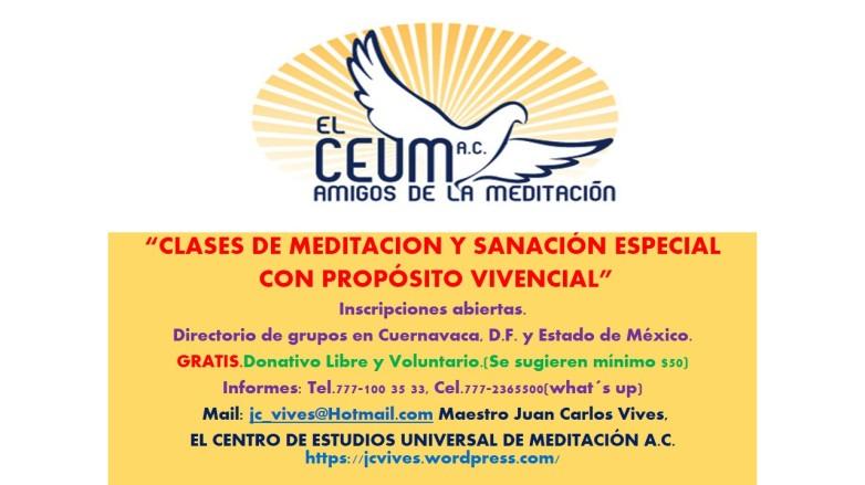 CLASES DE MEDITACION GRUPOS GENERAL