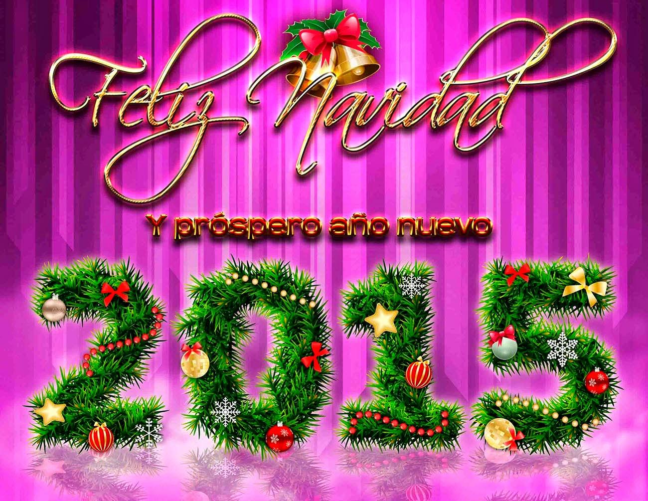 Feliz navidad y prospero a o nuevo 2015 psd el centro de - Frases de feliz navidad y prospero ano nuevo ...