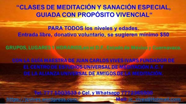 CLASES DE MEDITACIÓN 2016