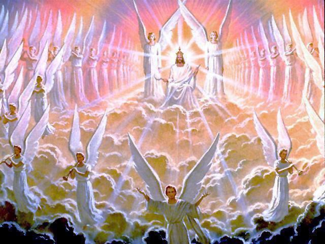 angeles y el trono