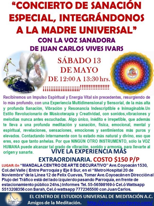 Poster Concierto de Sanación Mandala