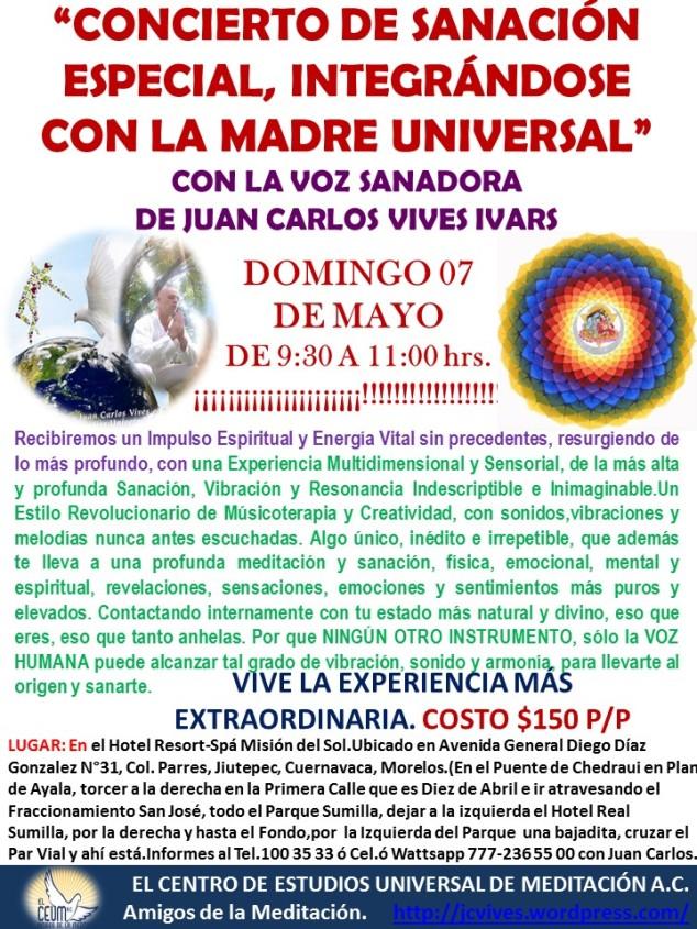 poster Concierto Madre Universal Misión del Sol.