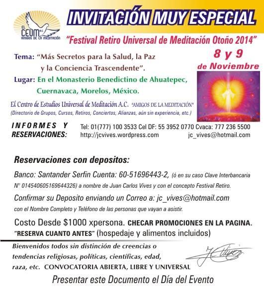 invitacion muy especial festival retiro otoo 2014