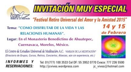 Invitación Muy Especial del Amor y la Amistad.