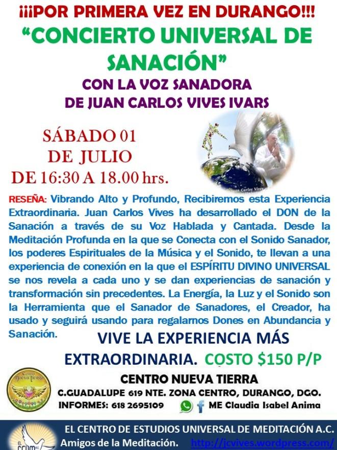 Concierto Durango 01 de Julio