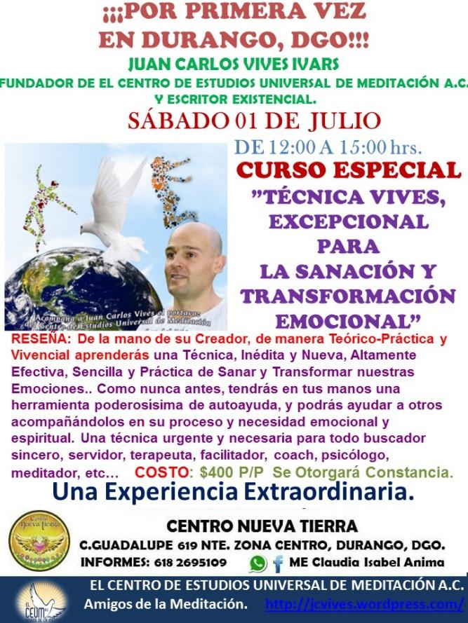 Curso Especial Durango 01 de Julio