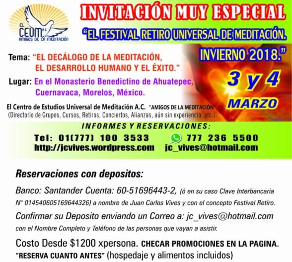 Invitación Festival Invierno 2018.