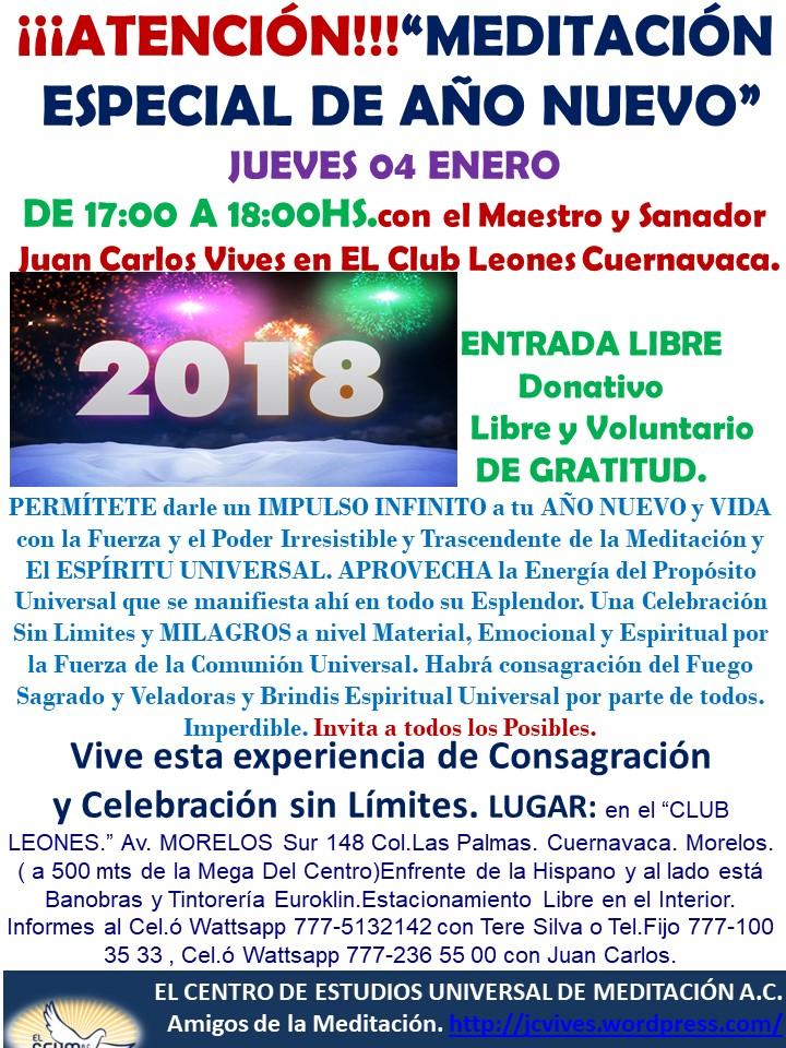 MEDITACION ESPECIAL 2018 LEONES...
