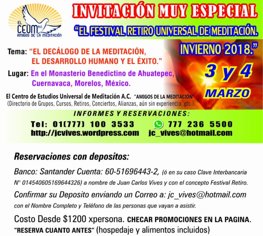 EL CENTRO DE ESTUDIOS UNIVERSAL DE MEDITACIÓN EN ACCIÓN.