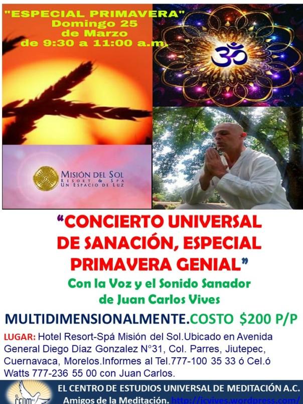 Poster Concierto de Sanación Primavera.