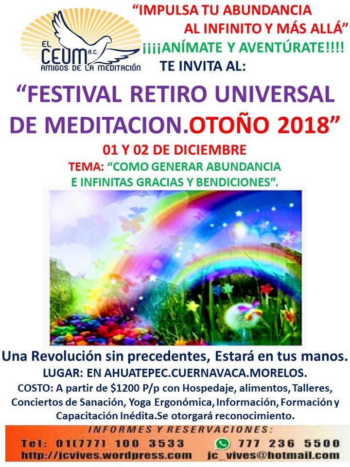 POSTER FESTIVAL OTOÑO 2018
