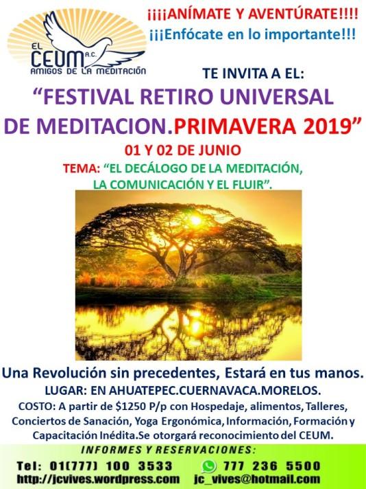 POSTER FESTIVAL PRIMAVARA 2019.